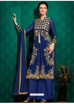 Blue Georgette Punjabi Suit