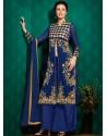 Blue Georgette Punjabi Suits