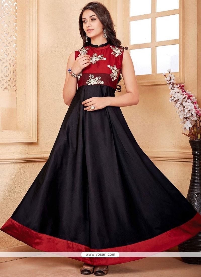 2a84b63cac Buy Princely Embroidered Work Black Designer Kurti   Party Wear Kurtis