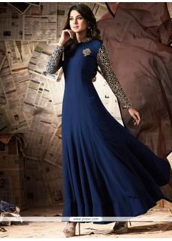 Jennifer Winget Navy Blue Floor Length Anarkali Suit