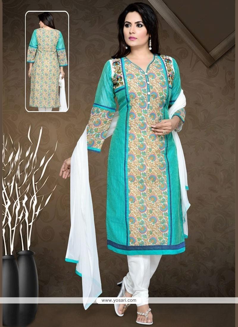 Buy Brilliant Blue Art Silk Readymade Suit   Wedding Suits