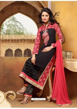 Black Georgette Punjabi Suit
