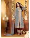 Grey Georgette Punjabi Suit