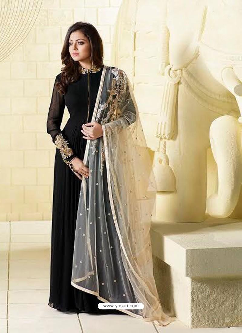 fc270f0364 Invaluable Resham Work Tafeta Silk Maroon Floor Length Anarkali Suit