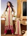 Cream Georgette Punjabi Suit