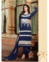 Navy Blue Georgette Punjabi Suit