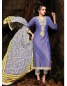 Purple Chanderi Party wear suit