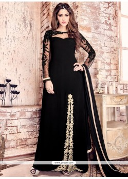 Customary Faux Georgette Designer Floor Length Salwar Suit