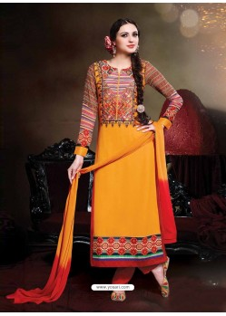 Orange Georgette Punjabi Suit