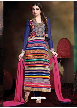 Multicolor Georgette Punjabi Suit