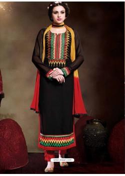 Black Georgette Punjabi Suit