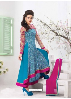 Multicolor Georgette Anarkali Suit