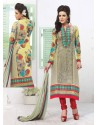 Multicolor Georgette,Jacquard Punjabi Suit