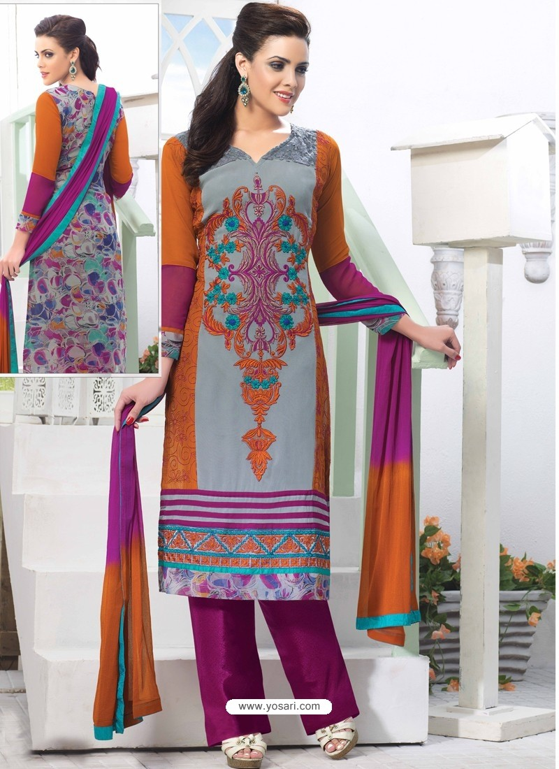 Multicolor Georgette Punjabi Suit