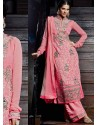 Pink Pure Georgette Punjabi Suits