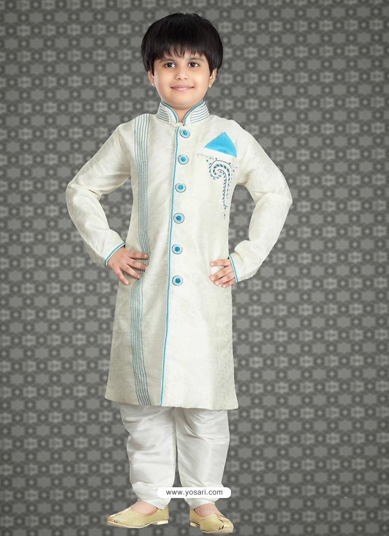 Buy Festive White Readymade Kurta For Eid Boys Kurta Pajama