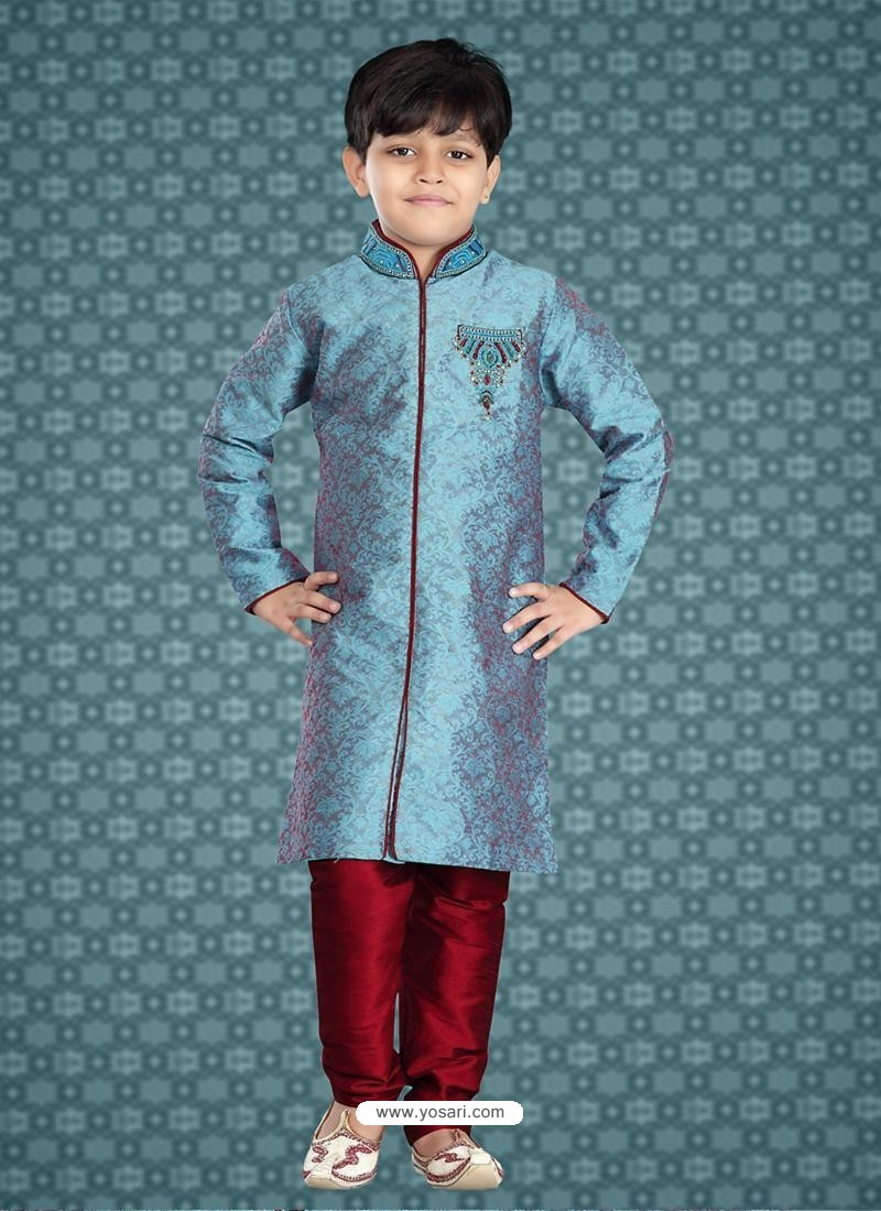 Buy Festive Blue Wedding Kurta | Boys Kurta Pajama
