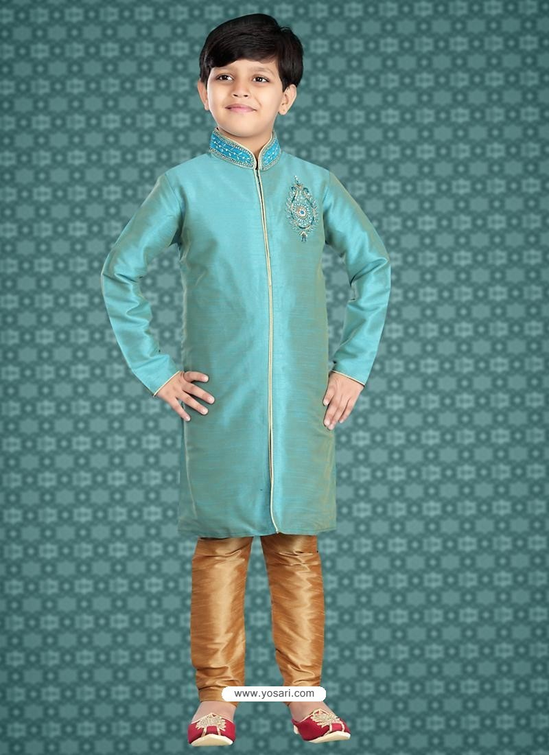 Buy Stunning Turquoise Wedding Kurta | Boys Kurta Pajama