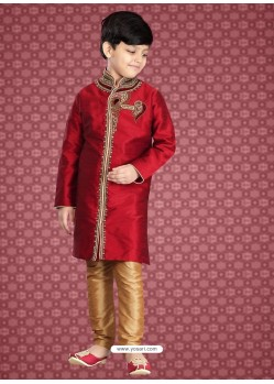 Stylish Red Festive Kurta