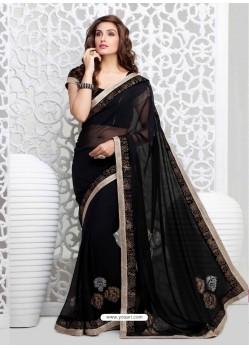 Black Georgette Party wear saree