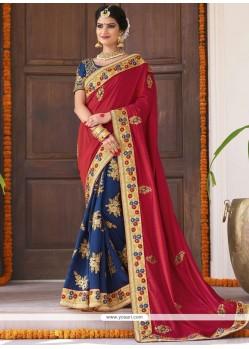 Marvelous Fancy Fabric Designer Bridal Sarees