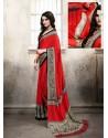 Red Silk Casual Saree