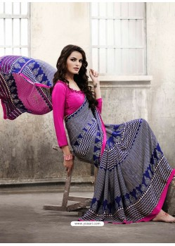 Pink Silk Casual Saree