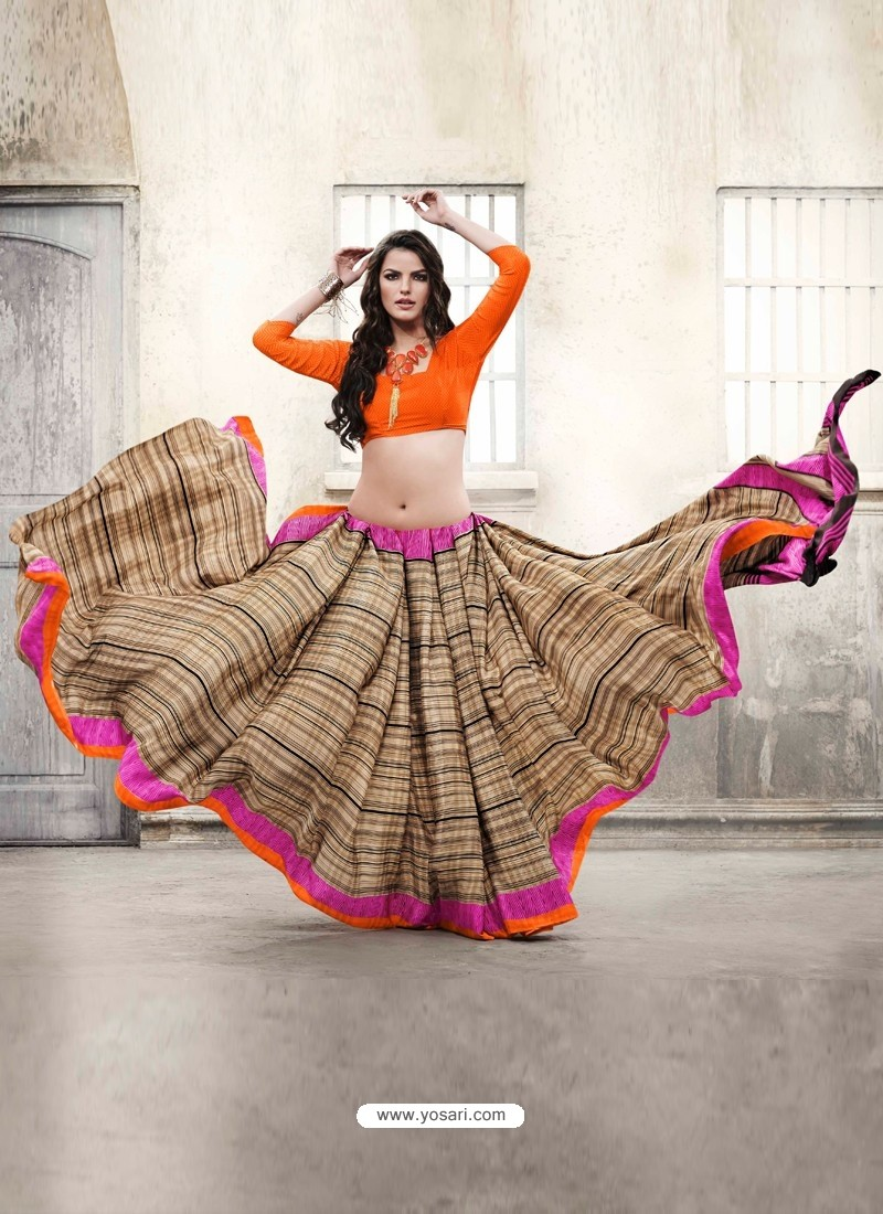 Multicolor Silk Casual Saree