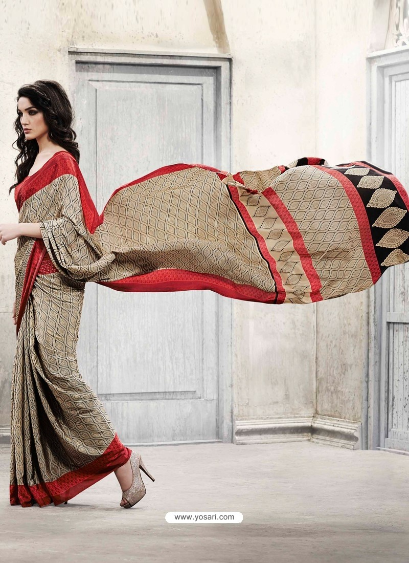 Orange Silk Casual Saree