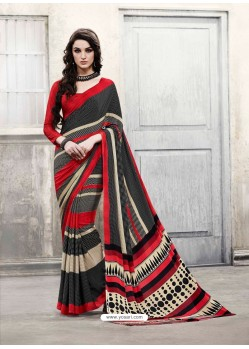 Orange Shade Silk Casual Saree