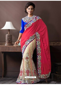 Multicolor Net Designer Saree