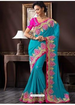 Pink Jacquard Designer Saree