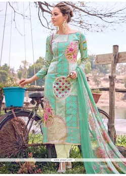 Immaculate Cotton Designer Straight Suit