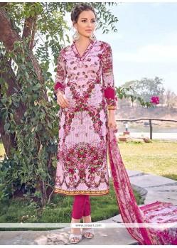 Mesmeric Print Work Cotton Designer Straight Suit