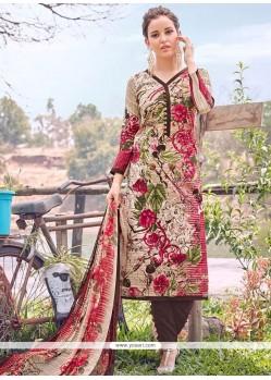 Attractive Cotton Multi Colour Designer Straight Suit