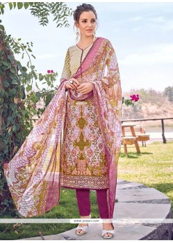 Fine Multi Colour Designer Straight Suit