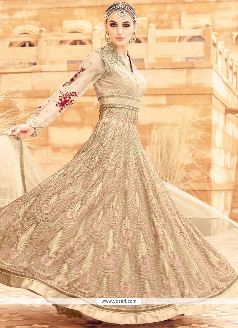 Regal Net Patch Border Work Floor Length Anarkali Salwar Suit