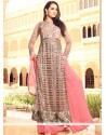 Stupendous Pink Floor Length Anarkali Suit