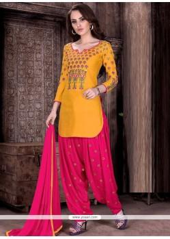 Jazzy Resham Work Designer Patiala Suit