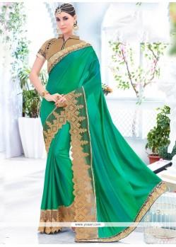 Elite Patch Border Work Art Silk Designer Saree