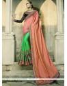 Impressive Crepe Silk Half N Half Designer Saree
