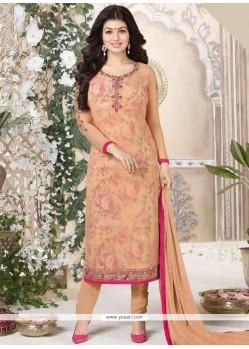 Ayesha Takia Orange Churidar Suit