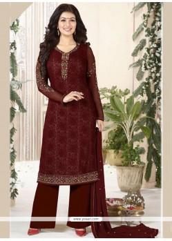 Ayesha Takia Brown Designer Palazzo Suit