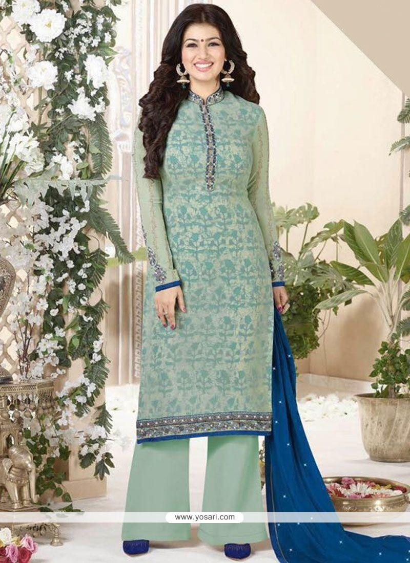Ayesha Takia Embroidered Work Designer Palazzo Suit