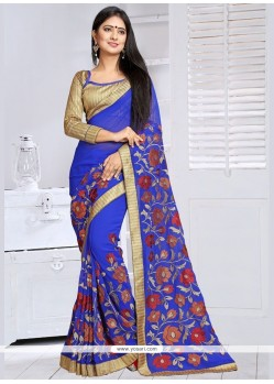 Congenial Lace Work Classic Saree