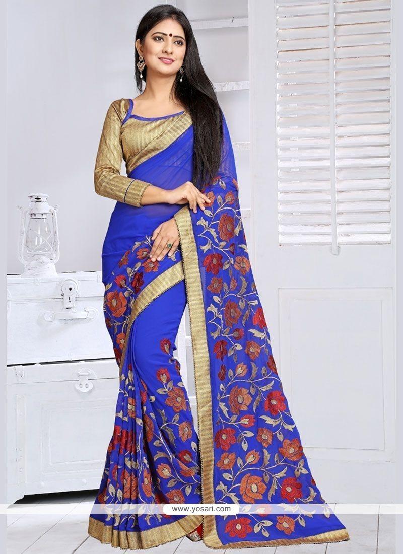 Congenial Lace Work Classic Saree
