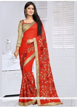 Extraordinary Lace Work Classic Saree