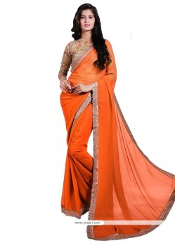Radiant Faux Georgette Embroidered Work Designer Saree