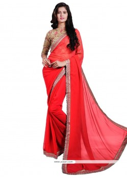 Delectable Faux Georgette Classic Saree