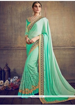Adorning Patch Border Work Designer Saree
